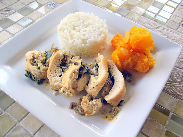 Chicken Stuffed with Spinach and Mushrooms