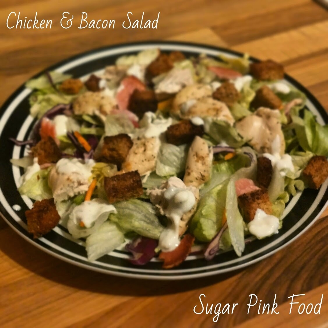 Slimming World Recipe:- Syn Free Chicken & Bacon Salad with Croutons