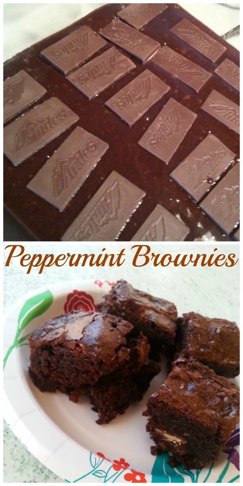 Easy Peppermint Brownies
