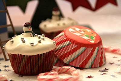 Malted Cupcakes in Christmas