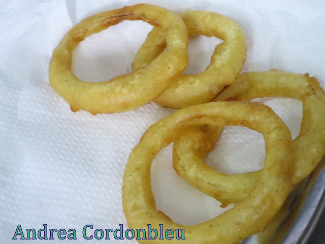 AROS DE CEBOLLAS FRITOS. GUARNICIÓN SIMPLE. RECETA VEGANA.