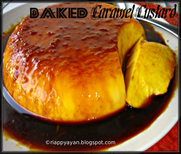 YAY!! 200th post~Baked Caramel Custard with orange flavoured Caramel Sauce
