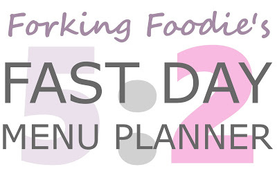 5:2 Fast Day Menu Planner (including full Vegetarian options and Gluten Free) - never have a boring fast day menu again!