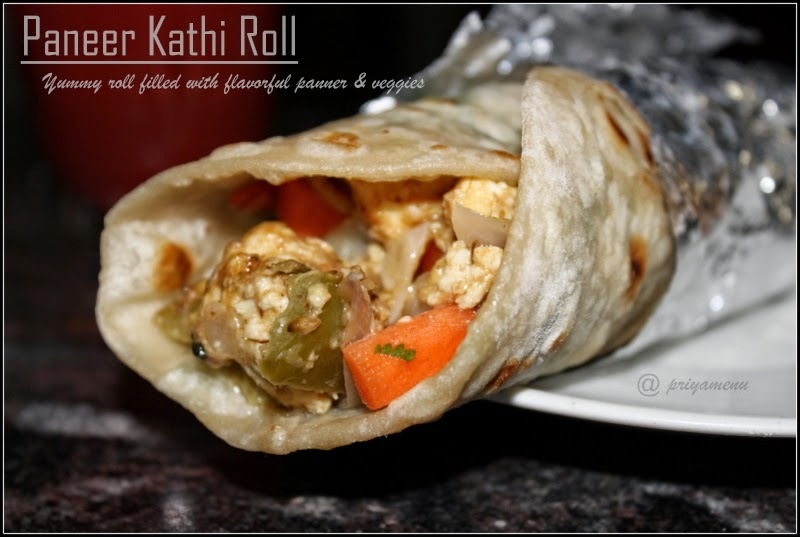 Paneer Kathi Roll - April Month SNC Challenge 2014