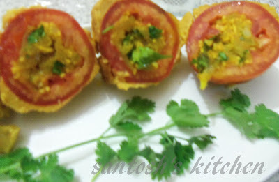 stuffed tomato with twist