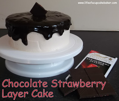 Lindt Chocolate & Strawberry Layer Cake...and a giveaway!!!