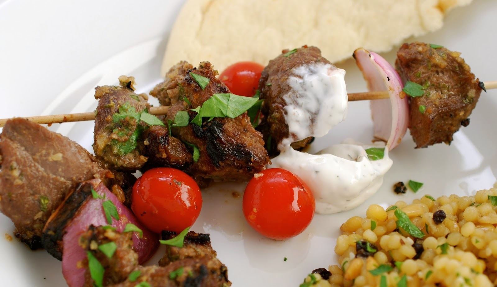 Persian Lamb Kebabs in Pomegranate-Walnut Marinade