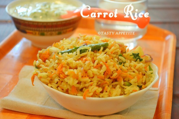 Carrot Rice - How to make Carrot Rice? / Lunch Box Recipes