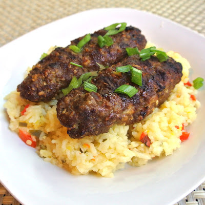 Persian beef kebabs with Spiced Jasmine Rice