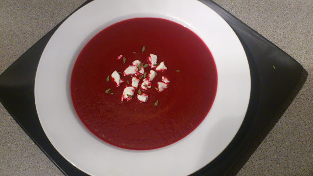 Beetroot Soup with Goats Cheese