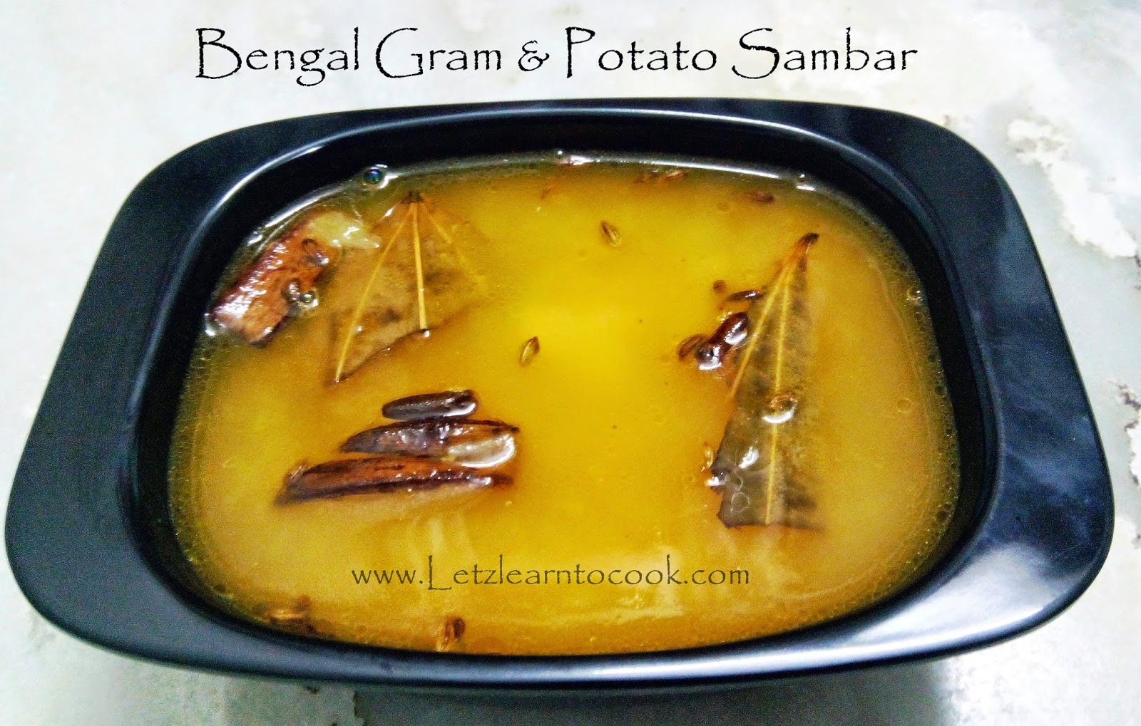 Bengal Gram Potato Sambar For Idly/Dosa