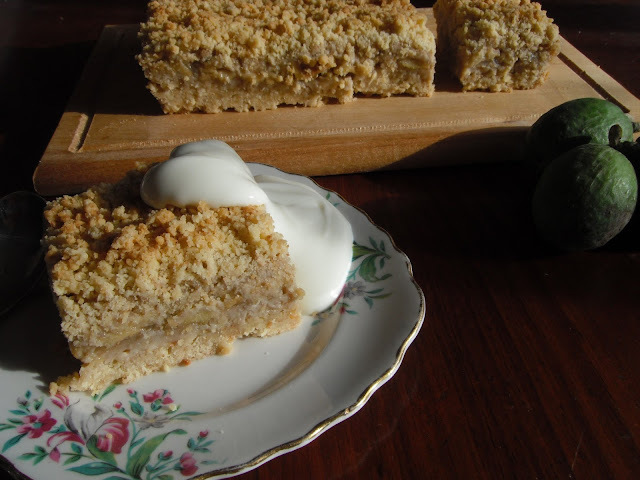 Mumsey's Feijoa Crumble Square