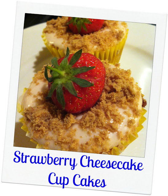 Strawberry Cheesecake Cup Cakes