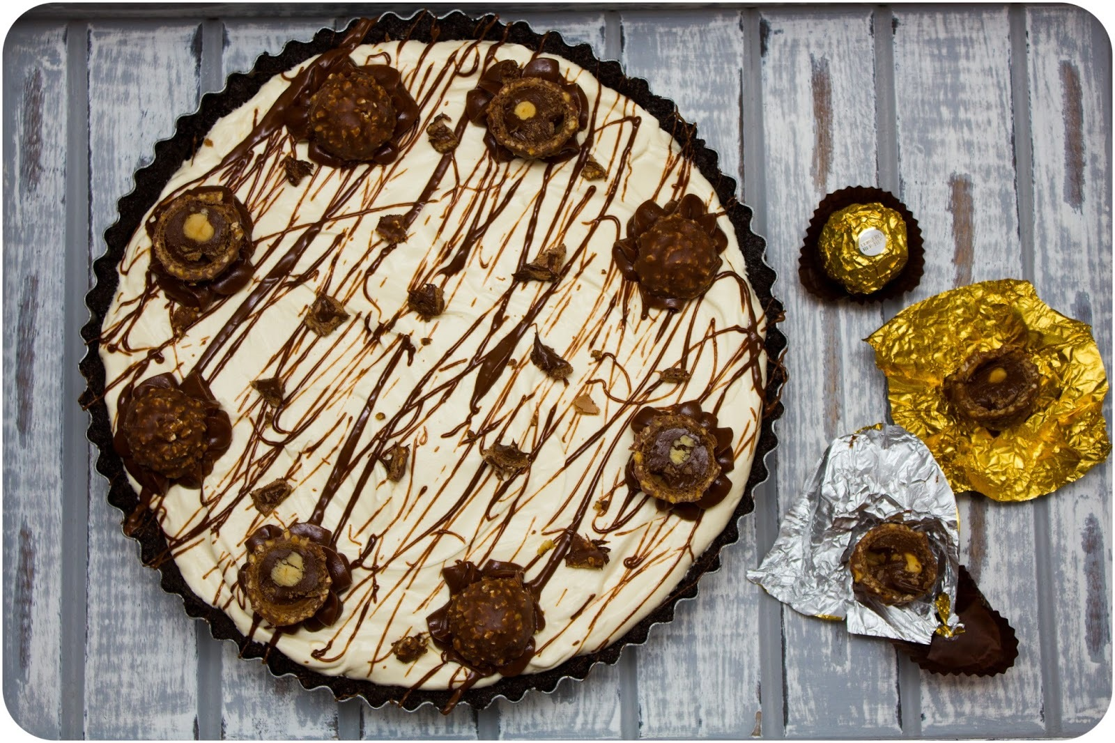 Ferrero Rocher & Nutella Fudge Cream Pie
