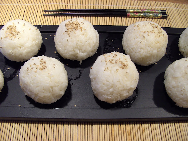 Rice Balls with Spring Onions and Smoked Salmon