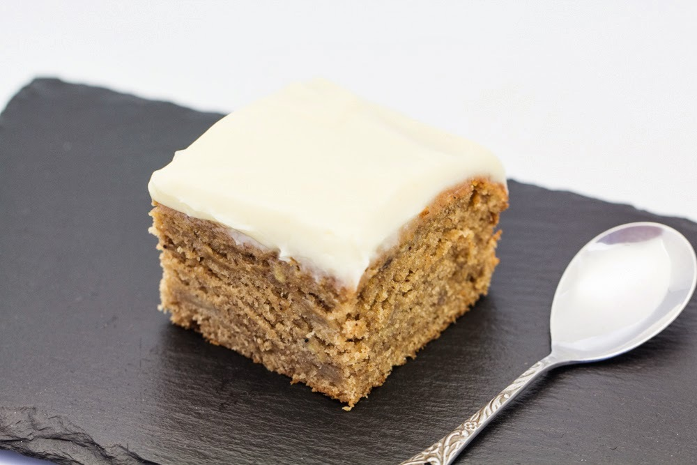 Moist Banana Cake with Frosting