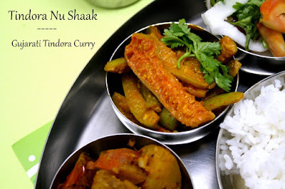 Tindora Nu Shaak | Gujarati Style Indian Ivy Gourd Stir Fry
