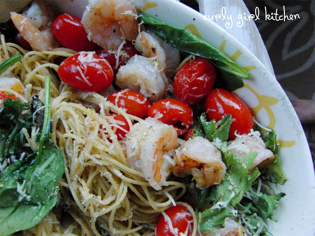 Roasted Shrimp and Cherry Tomato Spaghetti