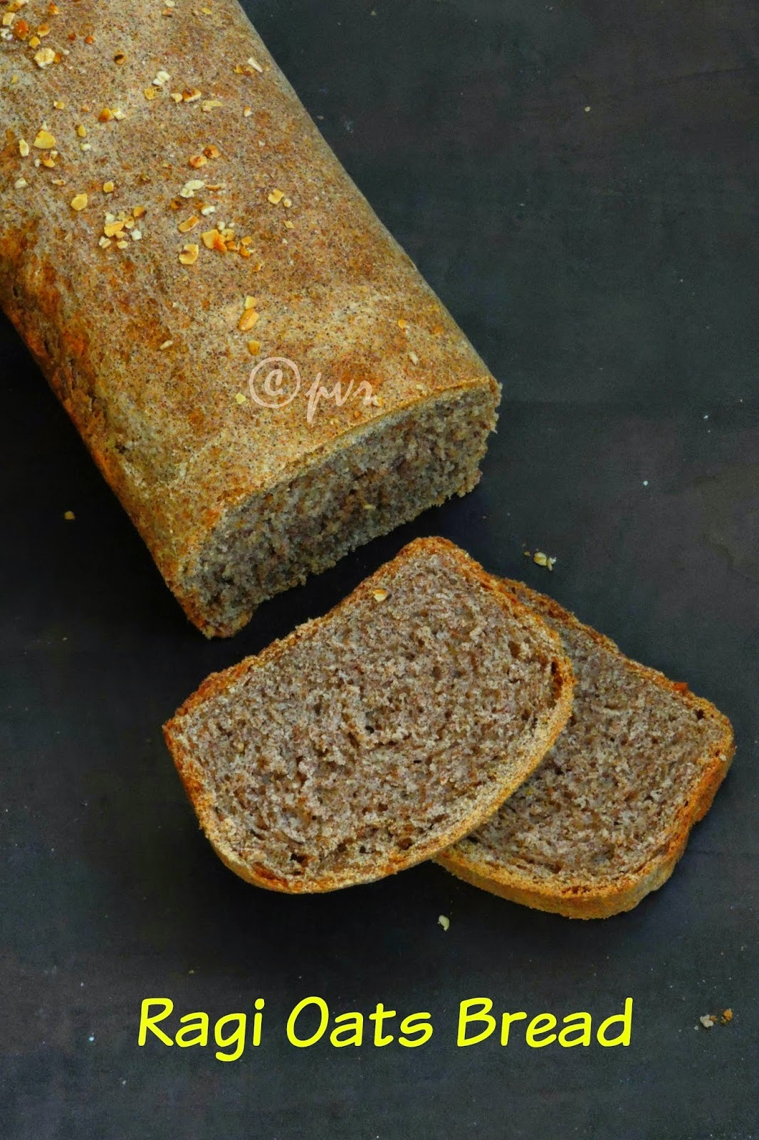 Vegan Ragi Oats Bread