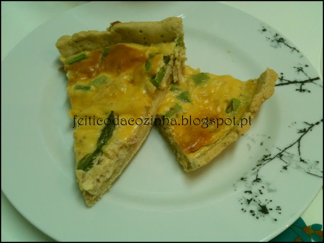 Quiche de Bacon e Espinafres