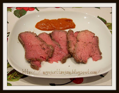 Roast beef al barbecue con salsa barbecue