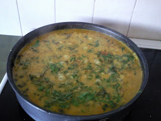 Spinach, Coconut and Lentil Dhal with Turkish flatbreads
