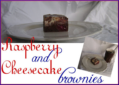 Raspberry and Cheesecake Brownies