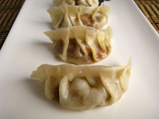 Ebi Gyoza (Prawn, sesame and soy sauce dumplings)