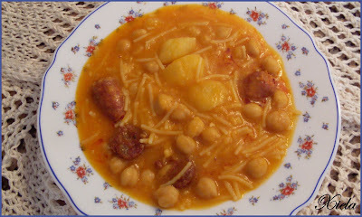 Potage de garbanzos.
