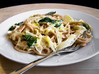 Cabbage and Leeks in Lemon Cream Sauce with Pulse Spaghetti