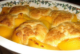 Jamie's America and Peach Cobbler