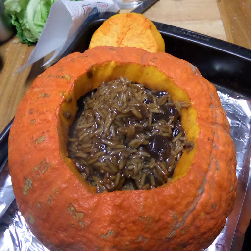 #WinterWarmers : Double-Decker Stuffed Whole Pumpkin