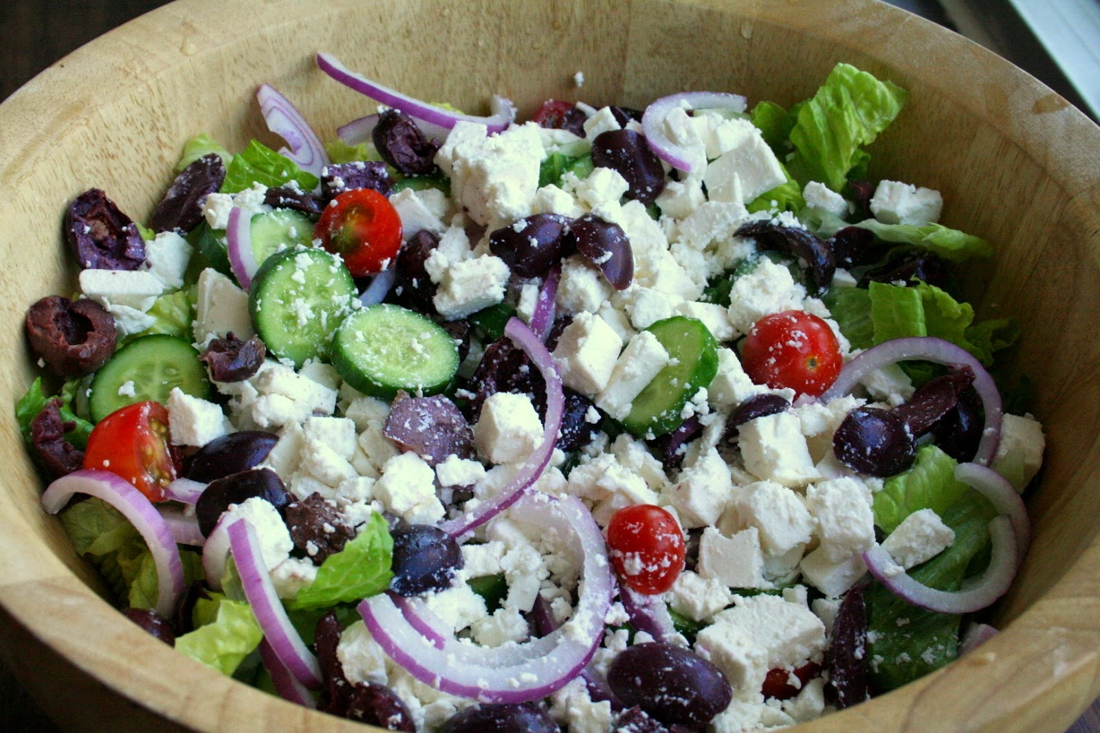 Greek Salad with Homemade Lemon Dressing