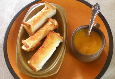 Margreet's Pumpkin Soup and Cheese Rolls