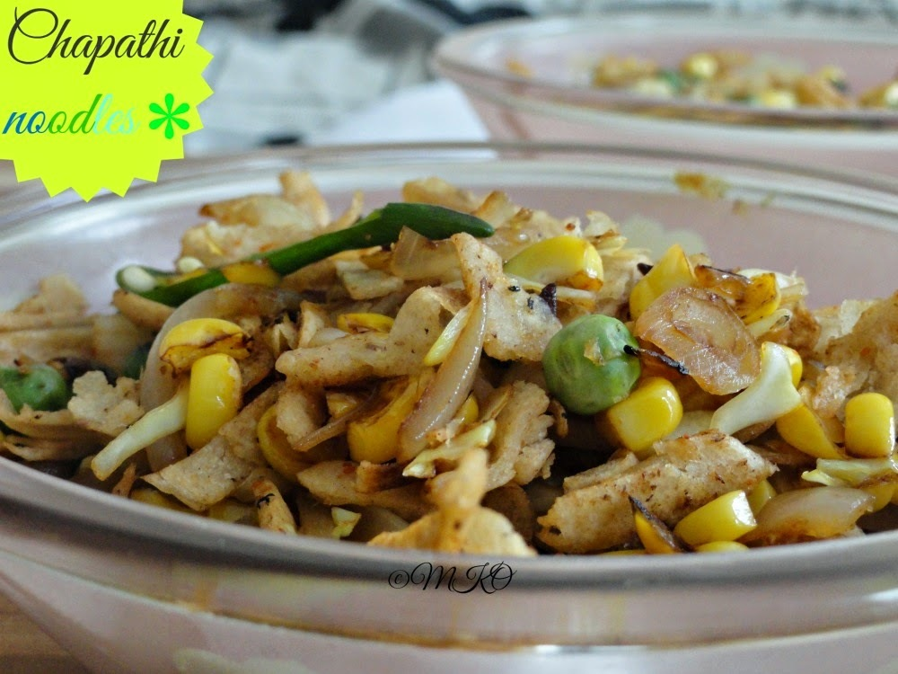 Chapathi noodles/Kids Snack Ideas/Leftover recipes