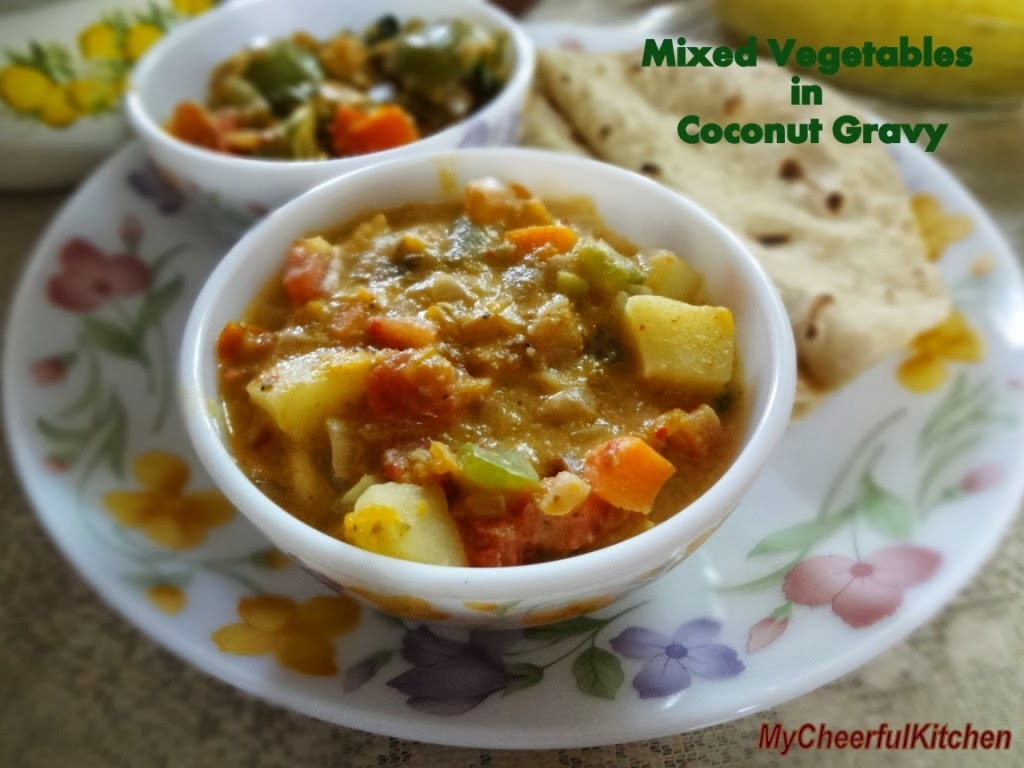 Mixed vegetables in coconut gravy