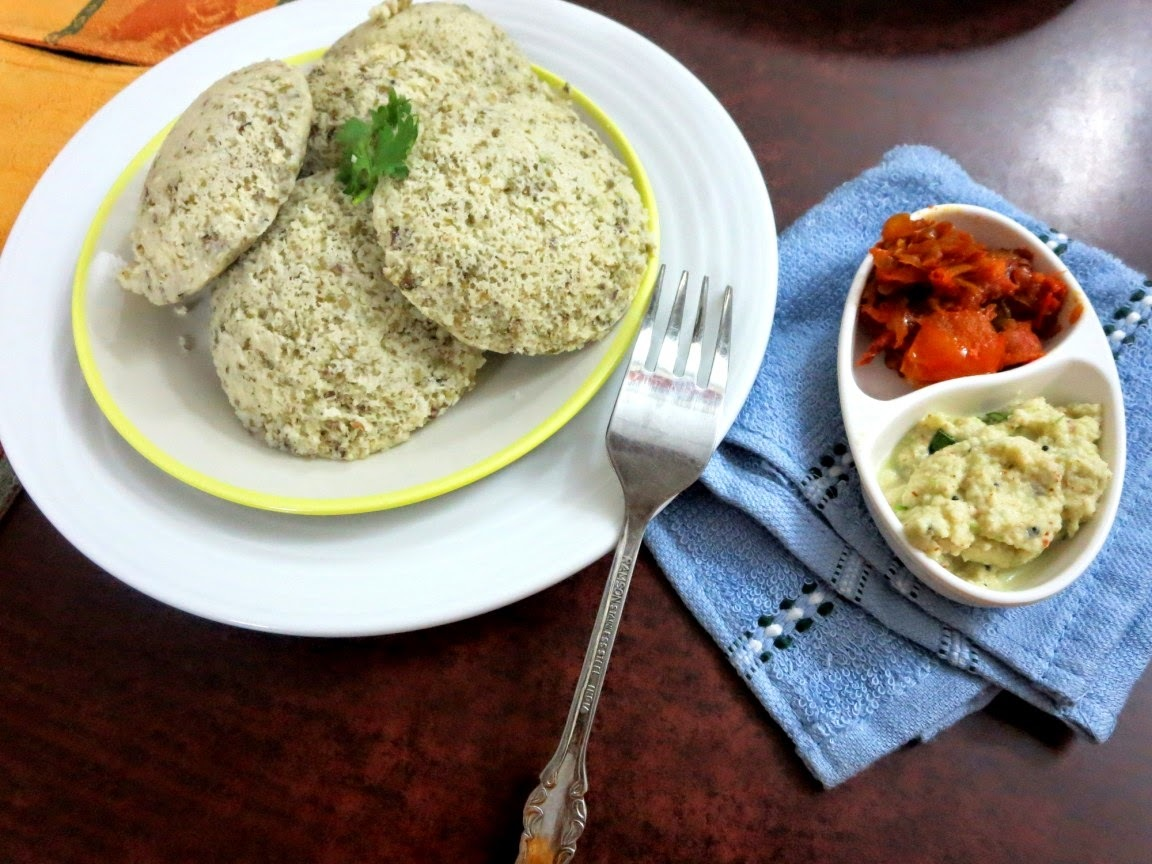 Sprouted Moong Dal Idli ~ Low Carb Indian Vegetarian Recipe
