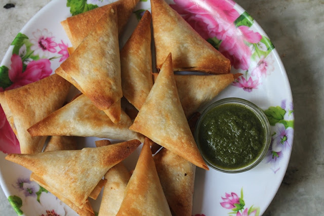 Baked Chicken Samosa Recipe - Baked Samosa Recipe