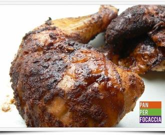 pollo intero al barbecue beer can chicken