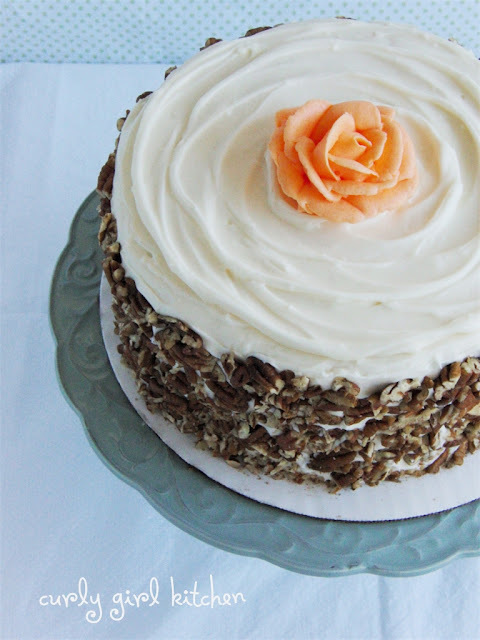 Browned Butter Carrot Cake with Salted Caramel Cream Cheese Buttercream