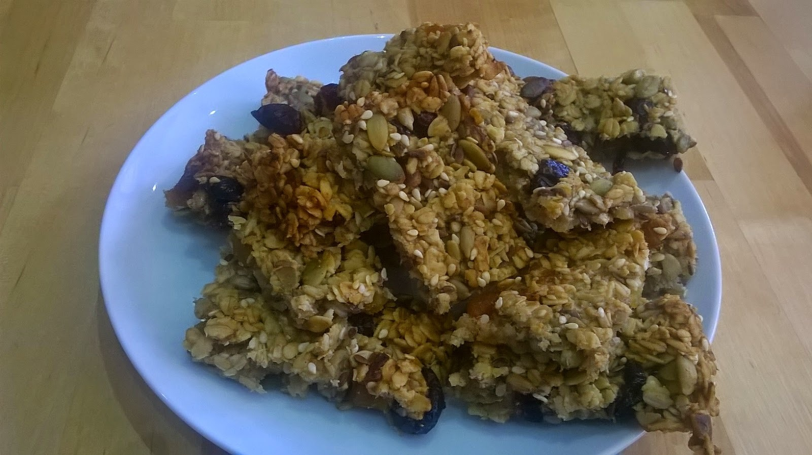 cranberry and pumpkin seed flapjack