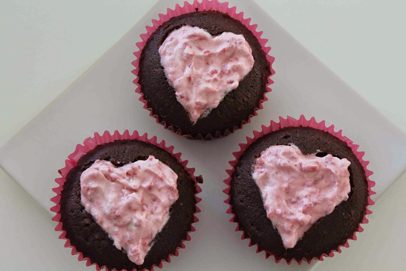 Chokladmuffins med hallonmousse