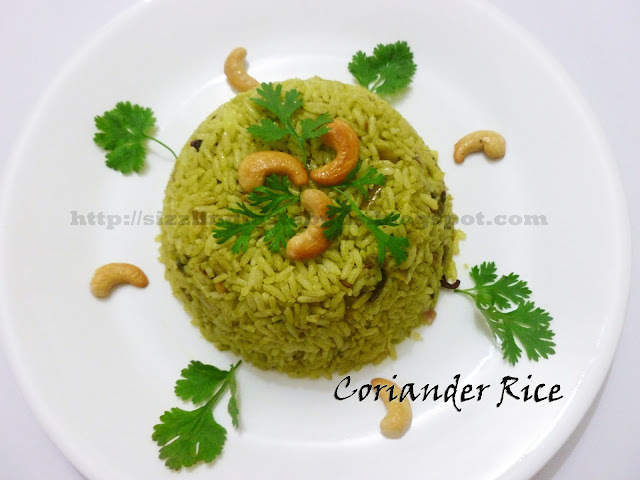 Coriander Rice- Simple and Tasty