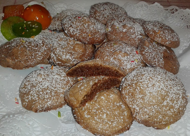 Galletas Merengadas de Café Capuchino y Avellanas