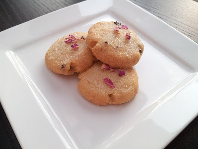 Claire Clark's Shortbread with Rose Flavoured Sugar