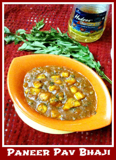 Paneer pav bhaji and Product review - Hudson Canola Oil