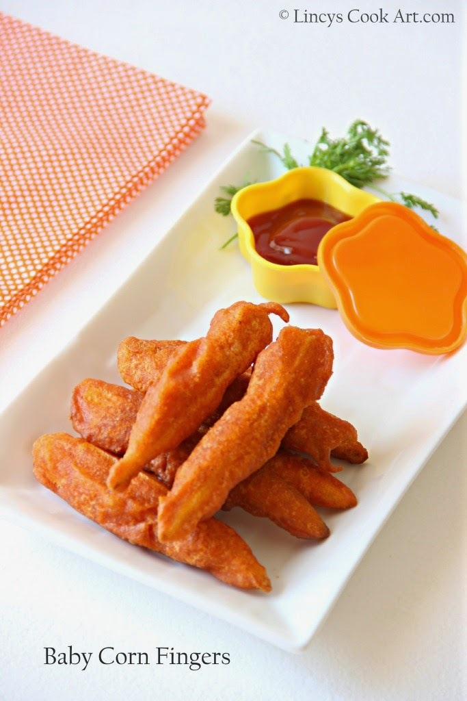 Baby Corn Fingers/ Baby Corn Fritters/ Baby Corn Golden Fries