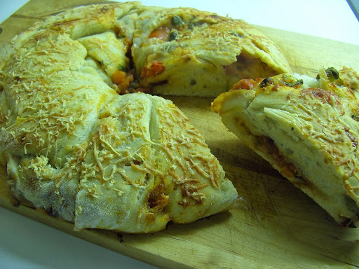 Chuck Away the Telly ... Have Some Twisted Round Pizza Bread