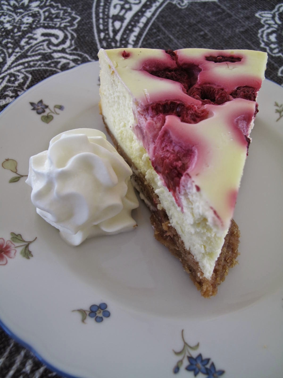 Raspberry White Truffle Cheesecake