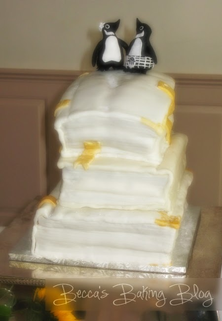Neapolitan Stacked Book Wedding Cake